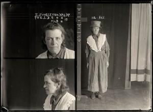 Elizabeth Singleton, criminal record number 706LB, 27 April 1927. State Reformatory for Women, Long Bay, NSW.