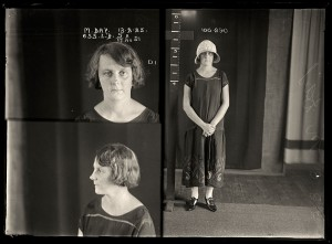 Marjorie Day, criminal record number 655LB, 13 February 1925. State Reformatory for Women, Long Bay.