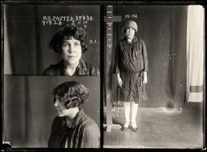 May Ethel Foster, criminal record number 717LB, 27 March 1928. State Reformatory for Women, Long Bay.